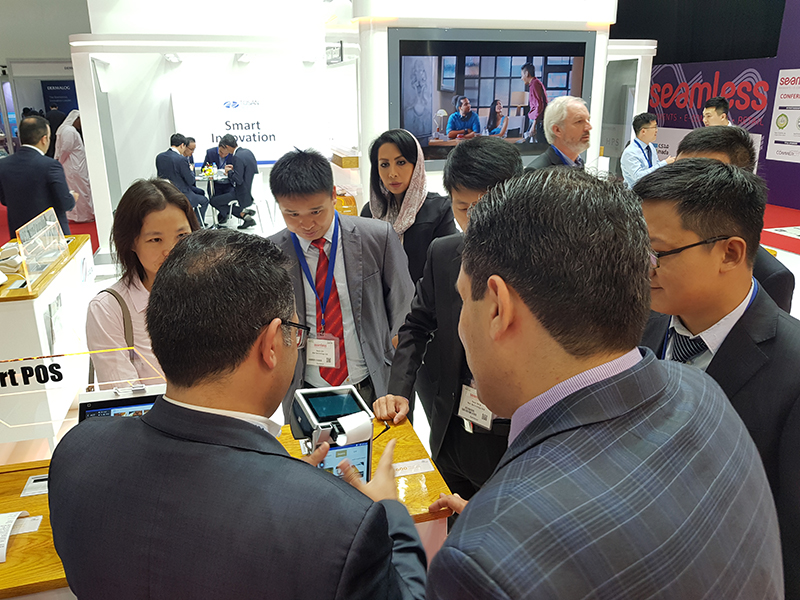 TOSAN Techno Stand in the Seamless Middle East 2018