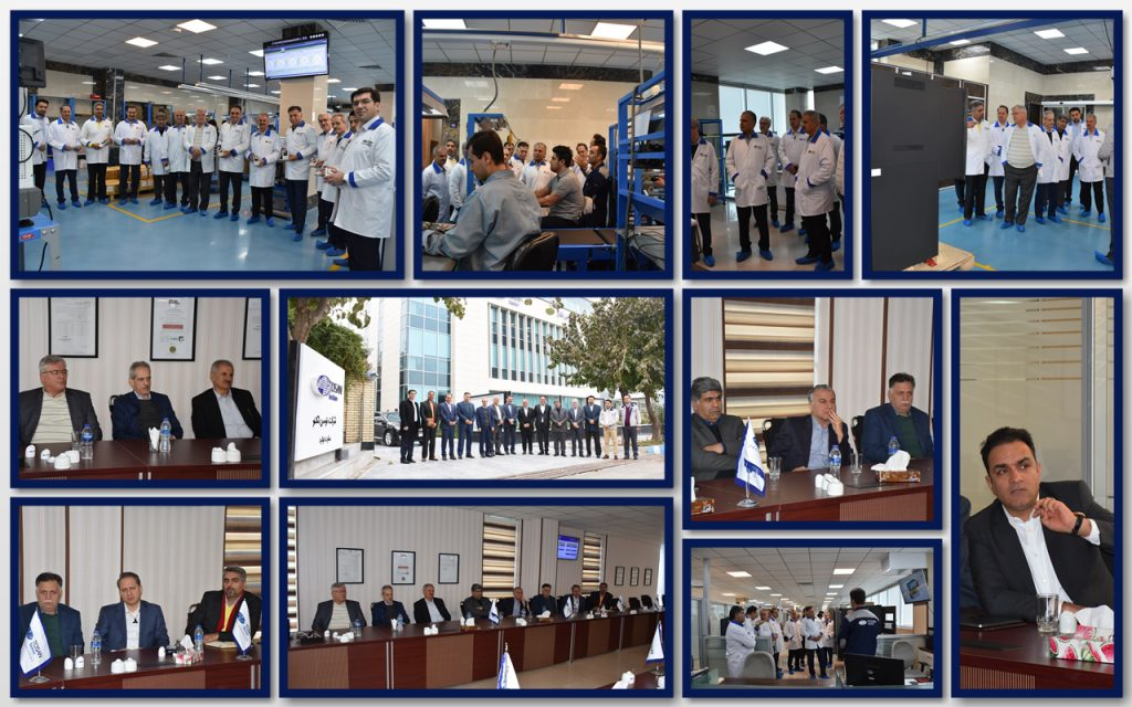 top managers of bank sarmayeh in production site visiting